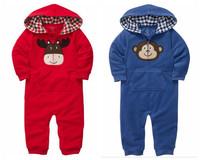 Original Carter's Monkey/ Deer Romper, Kamacar Baby Long Sleeve Jumpsuit, Infant and Toddlers Overalls