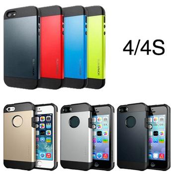 SPIGEN SGP SLIM ARMOR TOUGH ARMOR Hard Case For iPhone 4 4S 4G 2 Style Phone Bag Back Cover Silicon Plastic,No Retail Box YOTONE