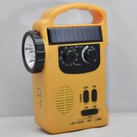 Solar emergency lights, hand crank radio, mobile phone emergency charging treasure, outdoor camping gear,