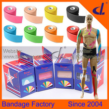 DL Brand Kinesiology tape 5cmx5m Kintape box+Manual Elastic Medical Supplies,Physio MuscleTherapy tape,Sports Safty Equipment(China (Mainland))