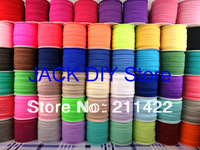 Free shipping 53colors  FOE Fold Over Elastic 50 Yards/roll 1.5cm Foldover elastic Headband Hair Ties YOU PICK 1 Color