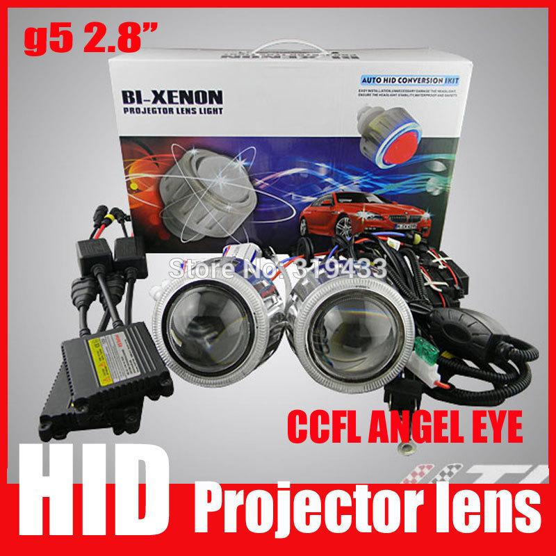 "2.8HQT 35W Projector Lens Headlight kit Slim Ballast 9005 9006 H1 H7 H4 New G5 2.8"" inch HID Bixenon Projector Lens(China (Mainland))"