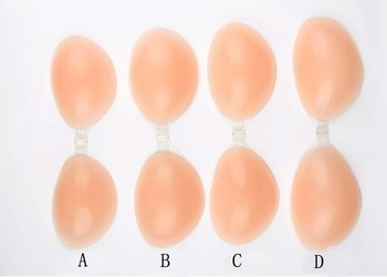 Free Shipping women invisible silicone bra self adhesive silicone breast bra 2 or 3 doubly thick sexy strapless backless bra