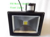 Free shipping 10W 20W 30W  85-265V waterproof PIR Motion sensor Induction Sense detective Sensor lamp LED Flood Light