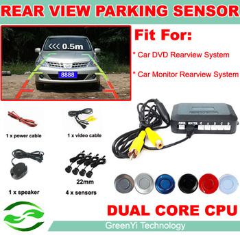 2014 Dual Core Car Video Parking Sensor Reverse Backup Radar System, Auto parking Monitor Digital Display and Step-up Alarm