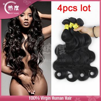 Unprocessed 7A brazilian body wave virgin brazilian hair weave human hair Hot hair products 4 pcs lot