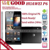 "Original Huawei Ascend P6 U06 K3V2E Quad Core Android 4.2 Mobile Cell Phone 2GB RAM 8GB ROM 4.7"" 1280*720 HD 8.0MP Camera 6.18mm"
