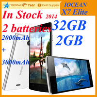 Iocean X7 Elite phone 2GBRAM 32GBROM Quad Core 1.5GHz MTK6589T X7 blcak plus 5 inch Android 4.2 CPU 13.0 MP  Russian free ship S