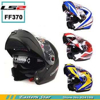 Cascos   ls2  ff370 helmet motorcycle  open  face helmet double lenses/racing flip up helmet have 20  kinds choose