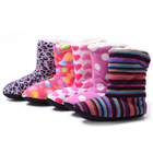 New 2013 Winter warm indoor boots women's at home slippers christmas deer boots women shoes home cotton snow boots soft(China (Mainland))