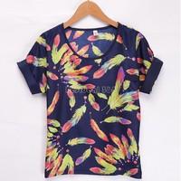 Floral Women Blouses Shirt Chiffon XXXL Plus Size Feminina Top Tee Short Shirt Women Blusa Camisa Summer Tops Shirt b8 SV003943