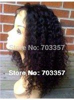 free ship 150% heavy density Braziian Virgin Bleached Knots Curly Lace Front Wigs Human Hair african american women fashion wigs
