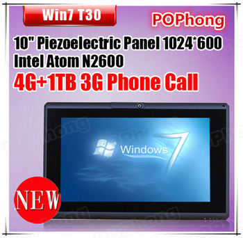 mini pc tablet pc 10 inch 2G RAM 1TB HDD Camera 320 rotate Intel Atom N2600 1.6Ghz Windows 7