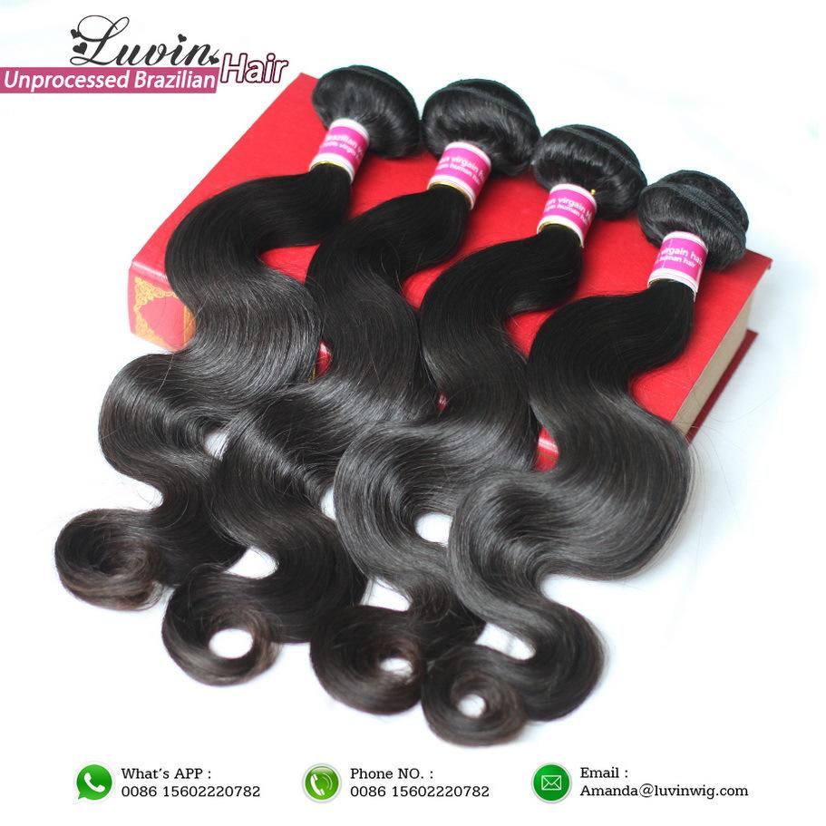 Queen Hair Products 3 Bundles Brazilian Virgin Hair Body Wave 100% Unprocessed Human Hair Weaves Wavy Grade 5A(China (Mainland))