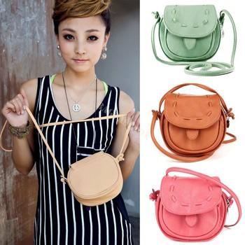 Korea Girls Handmade Musette Drum leather bag Pattern Small Shoulder bag messenger Handbag 25