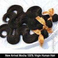 "7A Grade  Body Wave  3pcs/Lot  Mix Length 10""-30"",100% virgin Brazilian Human Hair Extension , Remy Hair, Color 1B(90-100g/pcs)"