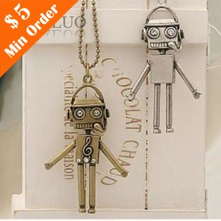 Vintage Note Robot Necklace,Ancient Style Robot Notes Necklaces N37 N38