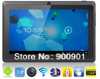 NEW 7 inch android 4.0 Capacitive Screen 512M 4GB Camera WIFI Q88 allwinner a13 tablet pc, best gift for christmas
