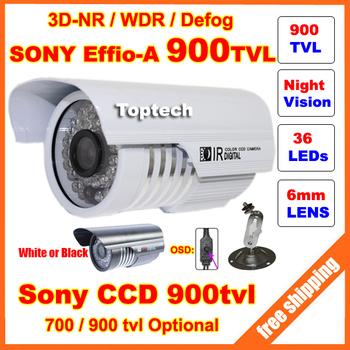 HD Security Sony Effio-E 700tvl, -A 900tvl CCD 960H OSD menu 36 leds IR 30 meters outdoor surveillance CCTV Camera with bracket