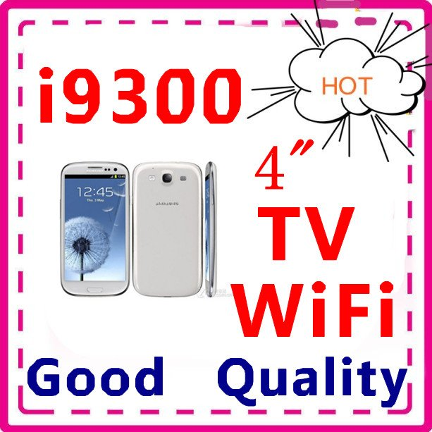 HOT Free shipping (Good Quality) S3 9300 TV WIFI 4.0 Inch Touch Screen cell Phone Dual SIM Card(China (Mainland))