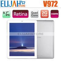 "Best Price Onda V972 9.7"" Retina IPS Allwinner A31 Quad core Tablet PC 2GB 16GB/32GB Android 4.1 Dual Camera 5.0MP HDMI IN stock"