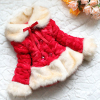 New 2014 Kids Coats and Jackets Baby Girl Outerwear Children Faux Fur Coat Brand Clothing Fashion Design Clothes Wholesale LOT