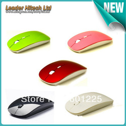 Free shipping drop shipping hot selling super slim wireless mouse USB receiver Optical 2.4G 8 colour available mous and mice(China (Mainland))