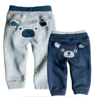 Free shipping 2013 new 100% cotton winter baby boy girl children's pants casual thick cartoon hoodie PP pants leggings plus size(China (Mainland))