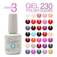 Choose 3 Colors Cristina Professional Hot Sale UV Soak Off Gel Nail Varnish Temperature Color Change Luminous Nail Polish Set