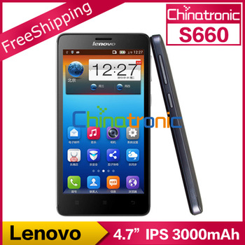 "Original Lenovo S660 S668t Mobile Phone Multi-language MTK6582 Quad-core 1.3G Dual-SIM 8.0MP 4.7""IPS 1GB RAM+8GB ROM 3000mAh"