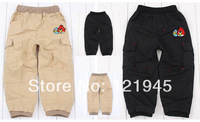 free shipping children's clothing pants  new autumn cotton cartoon elastic waist loose baby boys pant 3821