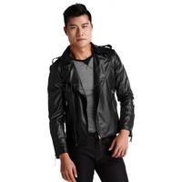 2014 Promotion Man down jacket clothing synthetic leather winter jacket men coat  jackets and coats  windcheaters SV18 SV007662