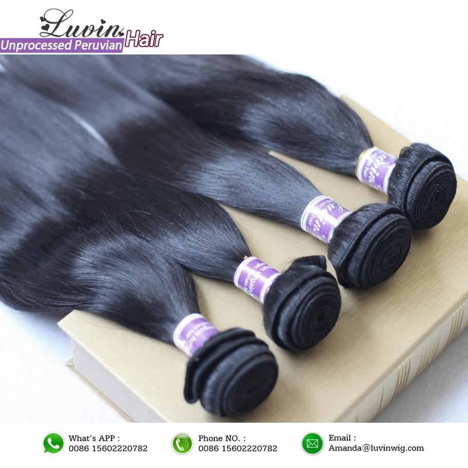 1pcs/lot péruvienne extensions de cheveux remy virgin non transformés cheveux produits luxy livraison gratuite