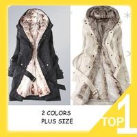 Hot Sale 2014 Faux fur lining women's  winter warm long fur coat jacket clothes wholesale Free Shipping Y0749