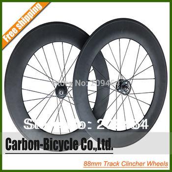 carbon clincher fixed gear bike wheels carbon bicycle 88mm track wheels 700c carbon Fixie bike wheelset