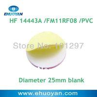 100pcs/lot RFID STICKER TAG Label/ FM11RF08M PVC Round 25mm White