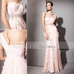 Hot Sale! Coniefox 2012 Pink Elegant Fashion Bridesmaid Dress 81019(China (Mainland))