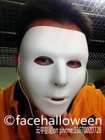 Lot 30  Jabbawockeez Male Blank No Face Mask  for Large-Size Men  Hip-Hop White  Party / Masquerade / Halloween  Free Shipping