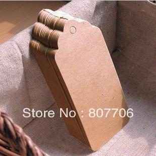Free shipping (500pcs/lot) Kraft Gift Tag  kraft card hang tag swing tag wholesale