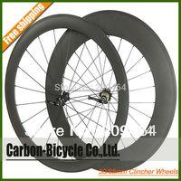 Mixed Depth 50+88mm clincher bike wheelset 700c carbon fiber road racing bicycle wheels standard weight Novatec Hub
