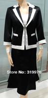 lady's skirt suits/women's casual suits black short skirt suits,office uniform designs for women150