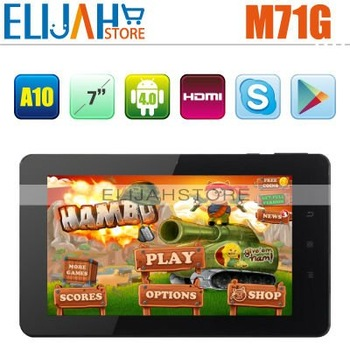 "Best Price 3G Phone Call Tablet PC Aoson M71G S Allwinner A10 7"" Capacitive screen 1GB 8GB Android 4.0 Dual Camera BT HDMI WIFI"