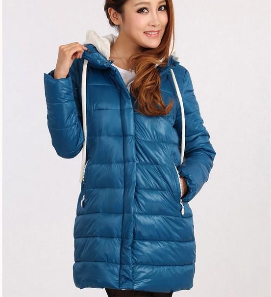 2013 new fashion women down jacket long coat Free shipping ladies