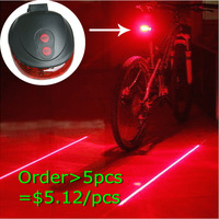 Bike Light Cheap Wholesale Price ! Bicycle Laser Tail Light Water Resistant 7 Modes Mountain Bike Safety Back Rear Led Light