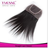 Straight Peruvian Hair Lace Closure 4x4,100% Human Hair Closure,Top Quality Aliexpress Yvonne Hair Products,Natural Color 1B