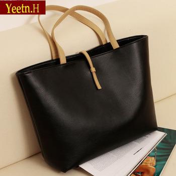 0050HOT!  Black Leather Fashion Luxury Lady Ladies Women's Bags Woman Shoulder Handbag Bag