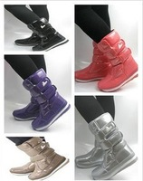 Free Shipping!2013 new autumn and winter 5 colors Rubber Duck in the snow tube shoes patent leather snow boots!Hot sale