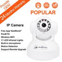 Free Shipping P2P Wireless Wifi Monitoring IP Camera Pan & Tilt Night Vision Mobile Viewing 3.6mm MJPEG White KaiCong Sip1602