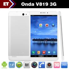 Original Onda V819 3G Tablet PC MTK8382 Quad Core 7.9 Inch IPS 1280x800 1GB RAM 16GB ROM GPS Bluetooth WCDMA Android 4.2(China (Mainland))