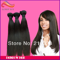 "Retail sample hair Brazilian natural straight 12"" ~34"" long length virgin human hair extension mix any length you like"